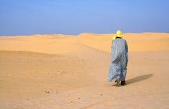 Alleen in woestijn Stock Fotografie