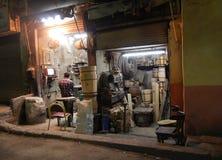 Allegaartje-winkel van millworks in Kaïro Royalty-vrije Stock Foto's