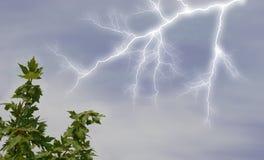 Alleggerendo in cielo Fotografia Stock
