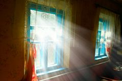 Alleggerimento interno domestico da un sole Immagini Stock Libere da Diritti