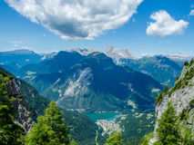 Alleghe - доломиты - Италия Стоковые Фотографии RF