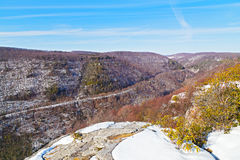 Allegheny Mountains range in West Virginia in winter. Stock Images