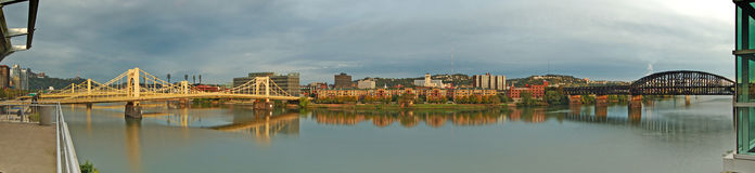 Allegheny river panorama. Stock Photo