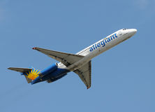 Allegiant air jet airplane Royalty Free Stock Images
