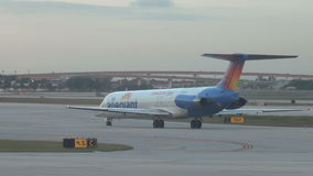 Allegiant Air passenger jet taxiing stock video footage