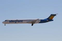 Allegiant aircraft Stock Image