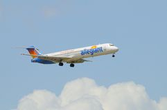 Allegiant airlines DC-9-83 Royalty Free Stock Photo