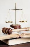 Allegori av rättvisa Arkivfoto
