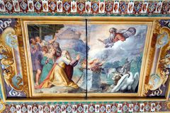 Allegorical Fresco on Ceiling, Villa D'Este, Tivoli, Italy Stock Images