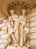 The allegorical sculptures Royalty Free Stock Photo