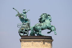 Allegorical statue of War Stock Image