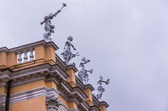 Allegorical statues on the roof of the Charlottenburg Palace Stock Photo