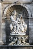 Allegorie der Donaus Lizenzfreie Stockfotos