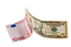 Allegorie: der Kampf des Weltbargeldes Lizenzfreies Stockbild