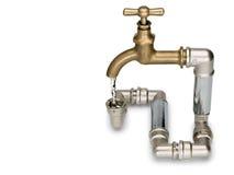 Allegorie van consumptie van watermiddelen Stock Afbeelding