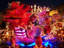 Allegorisch-groteske wagen royalty-vrije stock afbeelding