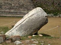 Allegorische standbeelden in Uxmal, Mexico Royalty-vrije Stock Fotografie