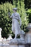 Allegorische Statue des Sommers, Piazza Del Popolo in Rom Lizenzfreie Stockfotos