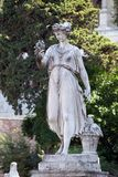 Allegorische Statue des Sommers, Piazza Del Popolo in Rom Lizenzfreies Stockbild
