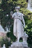 Allegorische Statue des Sommers, Piazza Del Popolo in Rom Stockfoto