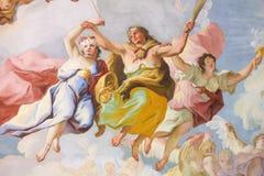 Allegorische Vertegenwoordiging van Moed - Fresko in Stift Melk, Au Stock Afbeelding