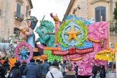 Allegorisches Floss, das Satire auf italienischer Gerechtigkeit darstellt Lizenzfreies Stockbild