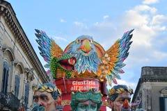 Allegorisches Floss, das Satire auf italienischer Gerechtigkeit darstellt Stockfotos