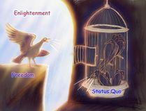 Enlightenment Alegory of the Cave. Allegory of the cave Stock Photography