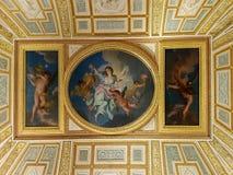 Allegory of the pre-dawn dusk, Villa Borghese. Rome. Allegory of the pre-dawn dusk, ceiling painting, Villa Borghese, Rome, Italy stock photos