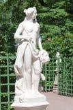 Allegory of Sincerity. Marble sculpture Allegory of Sincerity sculptor M. Gropelli in the Summer Garden in St. Petersburg stock photo