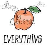 Allegro disegnato a mano tutto manifesto di tipografia ` Di citazione di celebrazione allegro tutto ` sul fondo delle illustrazio Immagini Stock Libere da Diritti