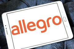 Allegro on-line-Auktionswebsitelogo Lizenzfreies Stockbild