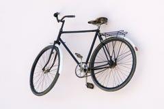 Allein altes rostiges Fahrrad Stockfotografie