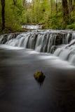 Allein entlang dem Fluss lizenzfreies stockfoto