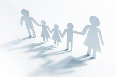 Allein erziehende Mutter mit vier Kindern Stockfotos