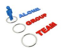 Allein Gruppen- oder Teamwahl Lizenzfreie Stockfotografie