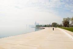 Alleine in Chicago Stockfoto