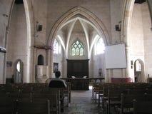 Alleine in der Kirche Stockfotos