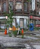 Alleine in der Stadt Stockfotografie