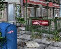 Alleine in der Stadt stock abbildung
