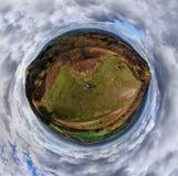 Alleine in der Welt Stockbild