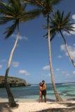 Alleine in einer verlassenen Insel Stockbild