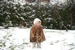 Alleine im Schnee Stockbild
