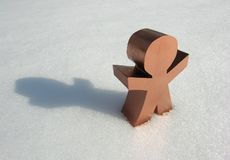 Alleine im Schnee lizenzfreies stockfoto