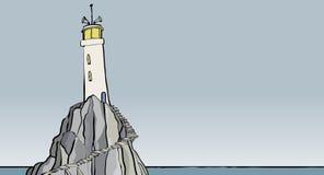 Alleiner Leuchtturm Stockbild