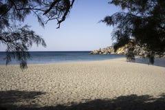 Alleiner Strand in der Südküste von Creta Stockfotos