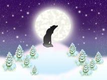 Alleiner Wolf stock abbildung