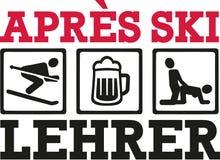 Allemand de professeur de ski d'Apres illustration de vecteur