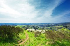 Allemand Eifel de paysage photographie stock libre de droits
