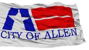 Allen City Flag d'isolement, Etats-Unis d'Amérique Photos stock